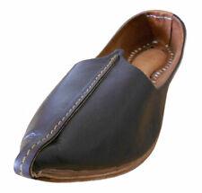 Men Shoes Indian Genuine Leather Jutties Brown Espadrilles Mojari US 11