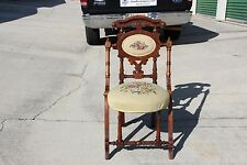 Fabulous Walnut Victorian Hunzinger Needlepoint Chair ~Ca.1870