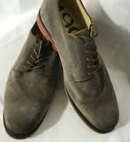 Nordstrom's Men's 1901  M23209 Size 11W Olive Green Leather Suede Lace Up Oxford
