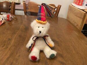 "Boyds Happy B. Day Birthday Bear Plush - Sparkles - Multi-color Paws - 8"""