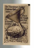 1923 Nuremberg Trichter Germany Inflation Illustrated Picture Postcard Cover