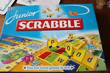 Junior Scrabble Game 2 word games in 1 (all letters there) by Mattel