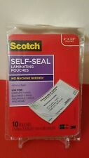 Scotch Self-Sealing Laminating Pouches, Business Card Size, 2 Inches X 3.5 Inch