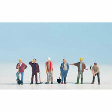 NOCH Construction Workers (6) Figure Set HO Gauge Scenics 15110