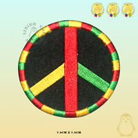 Peace Rasta Flag Embroidered Iron On Sew On Patch Badge For Clothes etc