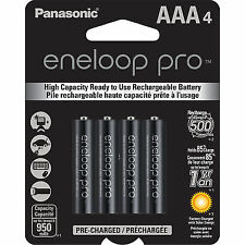Panasonic BK4HCCE4BT 1.2V 0.95Ah Rechargeable Batteries - 4 Count