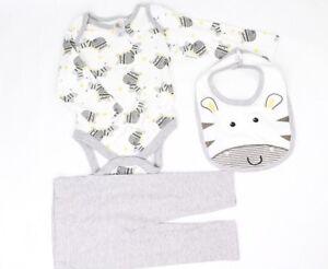 Baby Sleepsuit Babygrow All in One Boys Set, Leggings & BIB Set 3-6mths