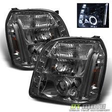 Smoked 2007-2013 GMC Yukon/Yukon Denali DRL LED Projector Halo Headlights 07-13