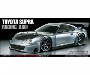 (X) Tamiya 300047433 - 1:10 RC Toyota Supra Racing (A80)(TT-02) - Nuovo