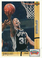 Sean Elliott 1991-92 Upper Deck #287 San Antonio Spurs basketball card