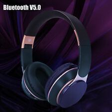 Wireless Bluetooth 5.0 Headphone Over Ear Stereo Super Bass Earphone Headset Mic