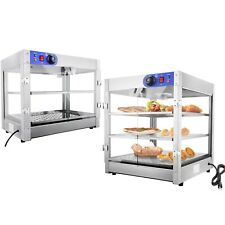 Commercial Food Warmer Court Heat Food Pizza Display Warmer Cabinet Glass Us