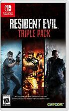 Resident Evil Triple Pack 4 5 6 Nintendo Switch Brand New Factory Sealed