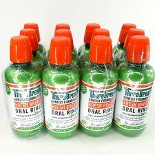 Lot of 12 TheraBreath Mild Mint Fresh Breath Oral Rinse 16 oz Fights Bad Breath