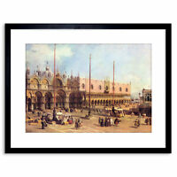 Painting Canaletto Piazza San Marco Old Master Framed Picture Art Print 9x7 Inch