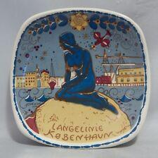 """Inger Waage Silk Screen Design 5"""" Plate Langelinie"""