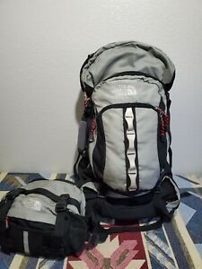 The North Face Black Hiking/Outdoor/Traveling Backpack & Fanny pack combo