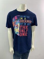 """John Lennon """"Dreamer"""" Quote Short Sleeve Men's Size Large Crew Neck T Shirt"""