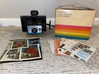 Vintage Polaroid Automatic 210 Land Camera With Wrist Strap, Manual, and Box