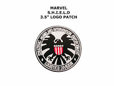 SUPERHERO SUPER HERO S.H.I.E.L.D AVENGERS LOGO EMBROIDERY IRON ON PATCH BADGE