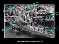 OLD LARGE HISTORIC PHOTO OF CONWY WALES, VIEW OF THE TOWN CENTRE c1920 2