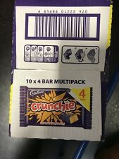 Cadbury Crunchie Chocolate Bar 40 Bars 10x4 (26.1g) Bargain Deal Long Date