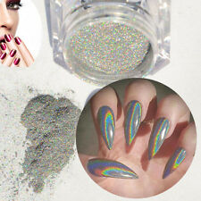 2g/Box Holographic Laser Powder Nail Glitter Rainbow Pigment Manicure Chrome NEW