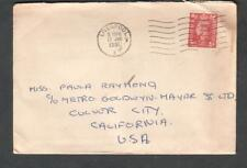 England 1951 cover & letter Irene Walsh Liverpool to Mgm Metro Goldwyn Mayer Ca