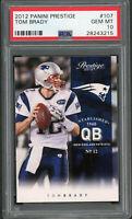 Tom Brady New England Patriots 2012 Panini Prestige Football Card #107 PSA 10