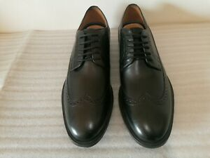 CLARKS BOSTONIAN COMMONWEALTH MENS BLACK LEATHER OXFORD BROGUES SHOES UK SIZE 8