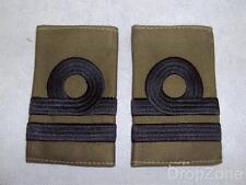 Genuine Royal Navy Lieutenant's Officer's Subdued Rank Slides / Epaulettes