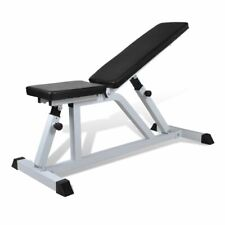 vidaXL Fitness Workout Bench Exercise Gym Equipment Weightlifting Machine Rack