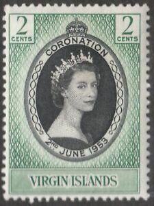 BRITISH VIRGIN ISLANDS 1953 SG148 CORONATION  -  MH/MM