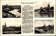 Regensburg Bayern Oberpfalz ~1940 Gedicht Donaustrudel Donau Strudel Brücke Dom