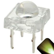 5 x LED 5mm Dome Superflux Warm Soft White Piranha LEDs Sign Lights Super Flux