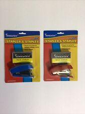 1 Pc A Homework Mini Stapler With No 10 Staples 2 Colors