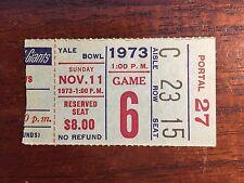 1973 NY Giants vs Dallas Cowboys Football Ticket Stub Yale Bowl VERY GOOD