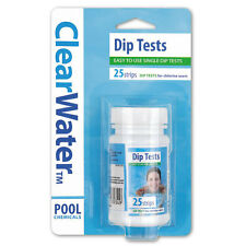 ClearWater Easy Dip Test Strips Hot Tub Lay-Z Spa Pool Chemicals Chlorine pH TA