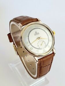 Outstanding 1947 Vintage Omega 2398 Gold Bumper Automatic Cal.332 Gents Watch