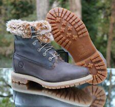 Timberland Women's Fold Down Faux Fur Fashion Boots Size 9.5 Dark Grey 8319A