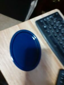"NEW THRESHOLD GEO CERAMIC SOAP DISH DARK COBALT BLUE 5.5"" X 1"""