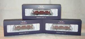 Liliput L260137, 3tlg. Set ged. Güterw. Glmhs 50 der DB, Ep. III, Spur N,NEU&OVP