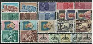 s33477 VATICANO MNH 1954 Complete Year set 18v + 6v segnatasse tax