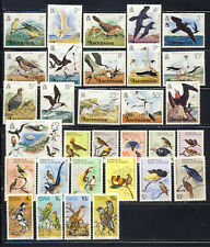 Bird on stamp collection,3 mnh vf complete sets from British Area 91.00