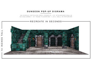 Dungeon 1/12 Scale Pop-Up Diorama BY EXTREME-SETS INC new