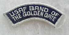 70/80'S USAF BAND OF THE GOLDEN GATE TAB TINSEL BULLION PLASTIC BACK
