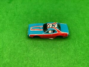 ORIGINAL AURORA AFX G-PLUS, PETTY CHARGER STOCK CAR BODY, STP BLUE/RED # 43, WOW
