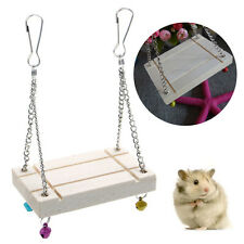 Hamster Toys Seesaw Rat Swing Mouse Parrot Harness Wooden Hamster Swing HOT SALE