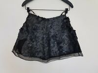 Aje Sorian Skirt Matte Black Sequin Hand Made Size 6 RRP $550