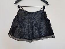 DESIGNER Aje Sorian Mini Skirt Size 6 RRP $550 Matte Black Sequin Hand Made